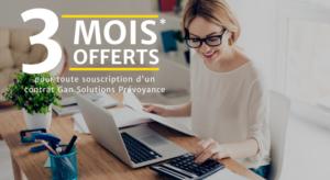 3 mois offerts Prévoyance PARIS TRONCHET ASSURANCES