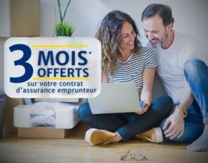 3 mois offerts assurance emprunter PARIS TRONCHET ASSURANCES